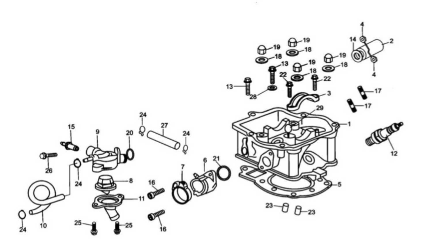 Hammerhead 250SS (Super Sport) Cylinder Head Comp
