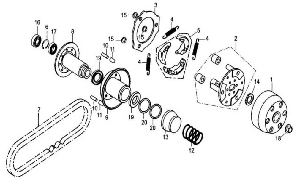 medium resolution of baja reaction 250 driven pulley