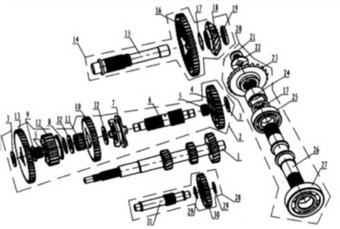 Hammerhead 250SS (Super Sport) Reduction Box Assembly
