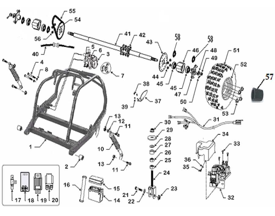 wiring diagram additionally scooter wiring diagram on taotao atv