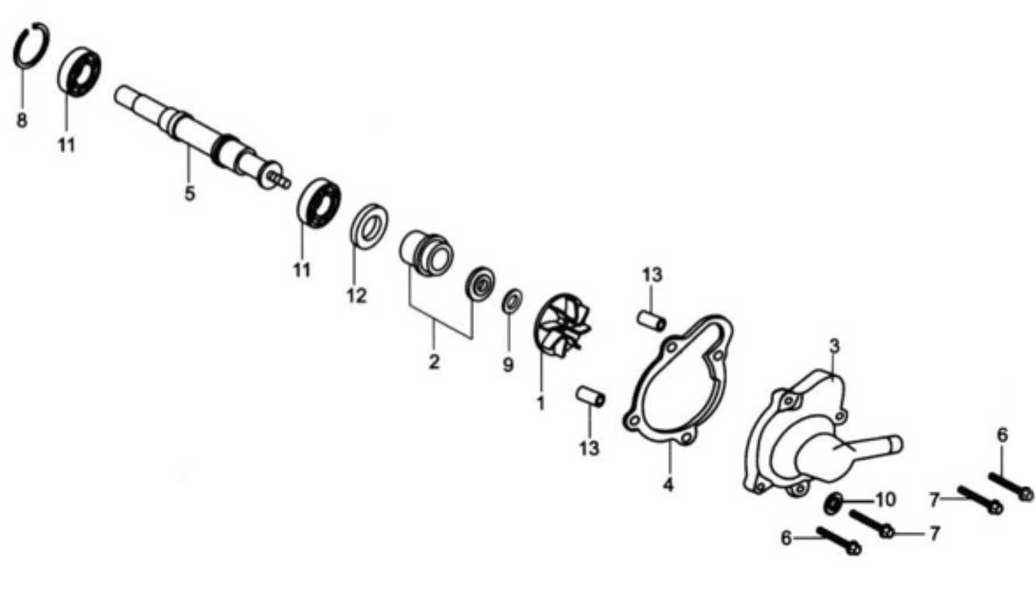 Hammerhead 250SS (Super Sport) Water Pump Assembly