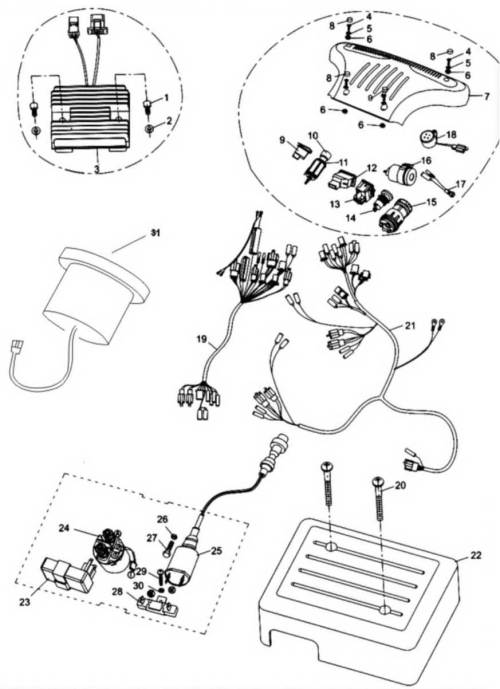 small resolution of 6 wire wiring diagram 250cc go kart dune buggy