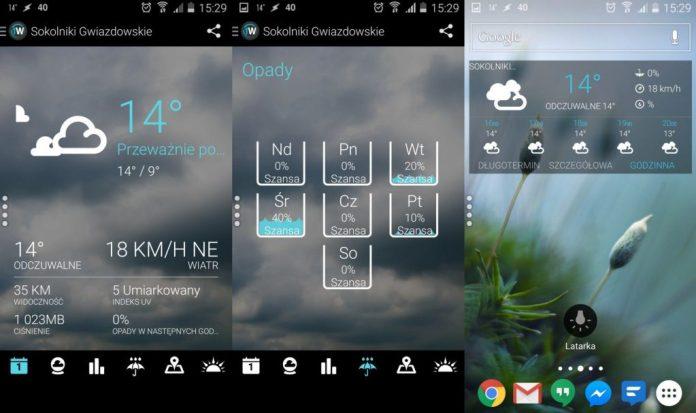 App widget de Clima 1Weather
