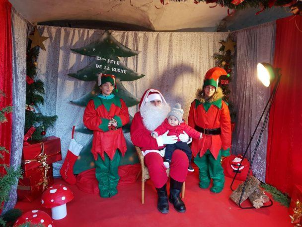 Photo père Noël Fête de la Bugne