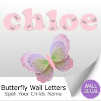 Name Wall Letters Alphabet Stickers Decals Girls Decor ...