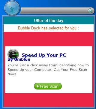 bubble dock ads