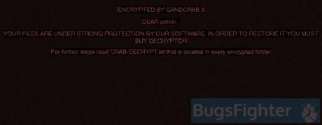 GandCrab V3 Ransomware desktop wallpaper