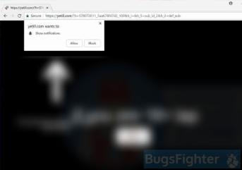 Yetill.com ads in Windows