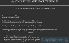 GlobeImposter 2.0 Ransomware (assistance@airmail.cc)