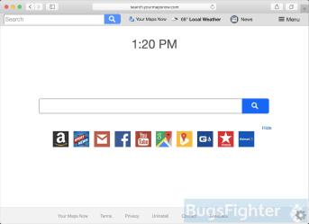 Search.yourmapsnow.com in Safari on Mac
