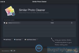 Similar Photo Cleaner start window