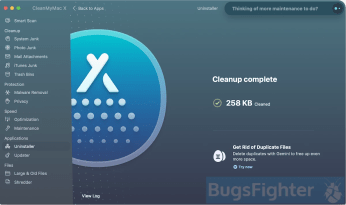 Uninstall Facebook with CleanMyMacX. Step 2.