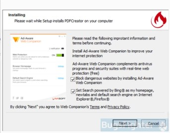 Example 2 of Bing.com installer