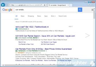 """""""Ads X"""" in Google im Internet Explorer"""