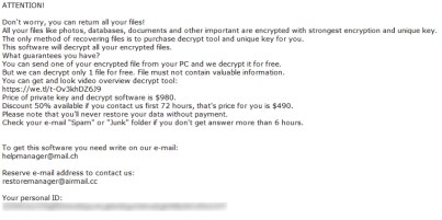 Nile Ransomware (ransom note)