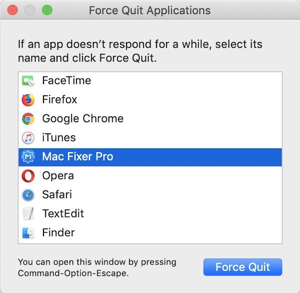 mac fixer pro force quit