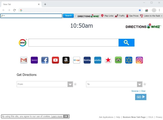 directions whiz toolbar