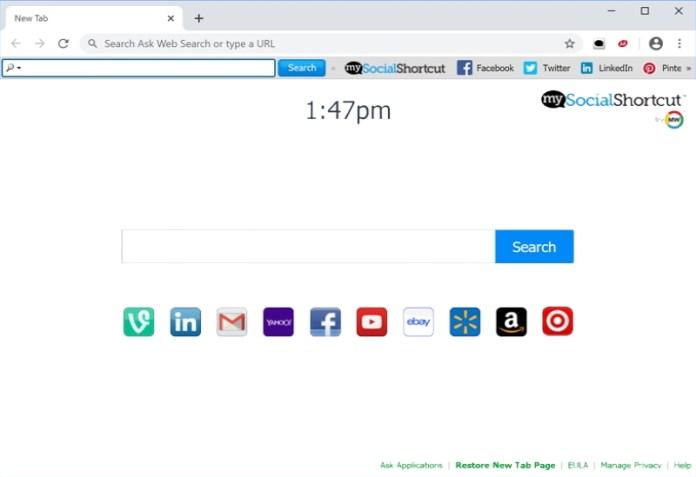 my social shortcut new tab