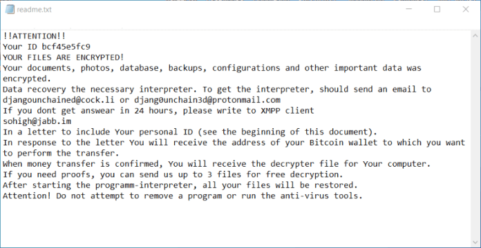 django ransomware