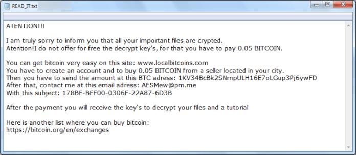 aesmewlocker ransomware