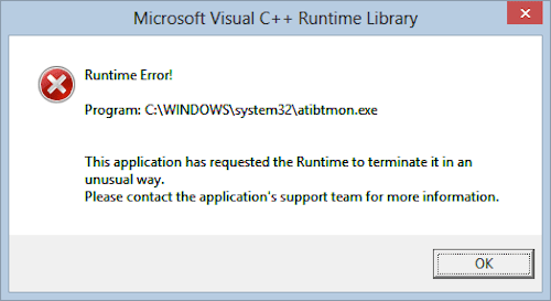 Runtime error (sample 3)