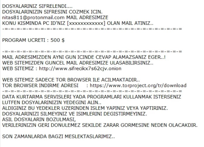 sifrecikis ransomware