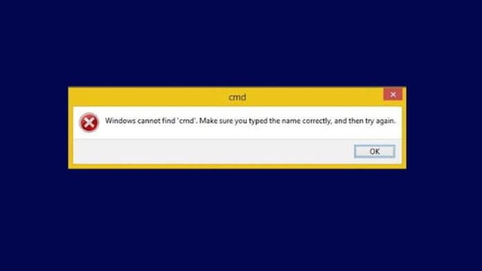 Windows ne trouve pas l'erreur 'cmd'