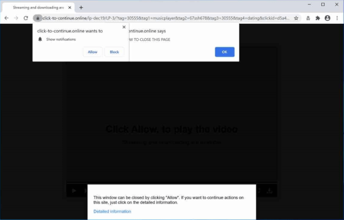 click-to-continue.online ads
