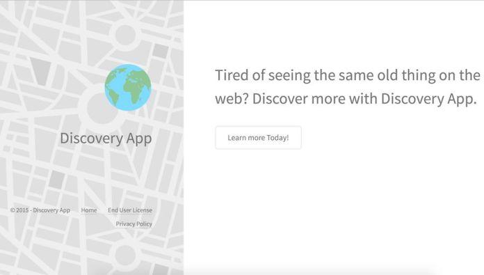 anuncios de aplicaciones de descubrimiento