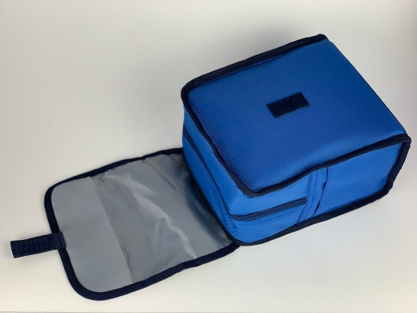Boxy Lunch Bag blue opened front