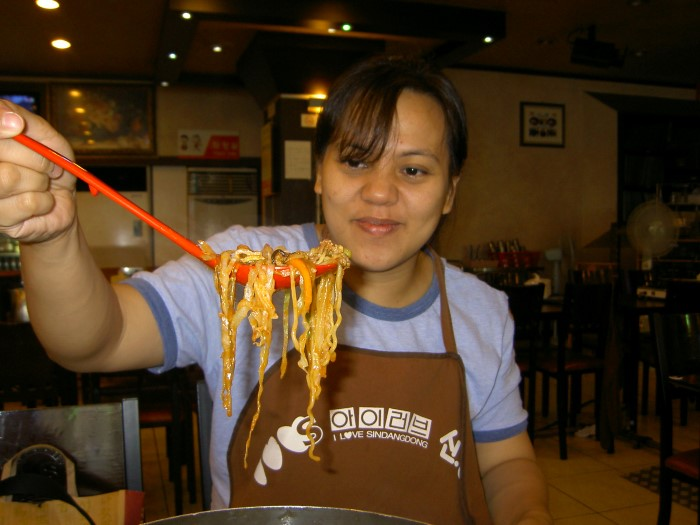 Sindang's famous spicy rice cake
