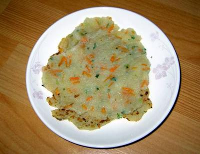 Ready to serve ~ kamja jeon