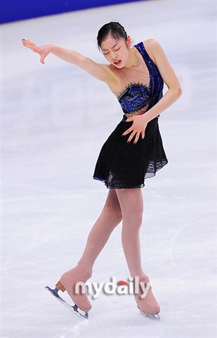 Kim Yuna at the 2011 ISU World Championships in Russia