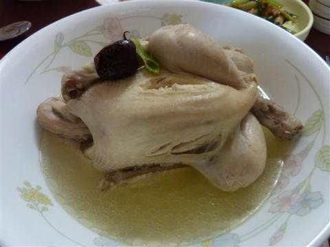 Korean ginseng chicken soup - samgyetang