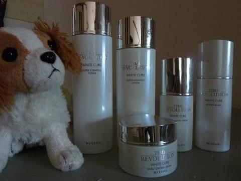 Missha's Time Revolution White Cure with my son's Nintendog
