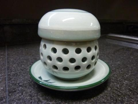 One of our eight-year old Korean tea cup set