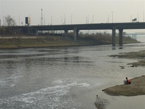 Fishing along the banks of Han River in Seoul