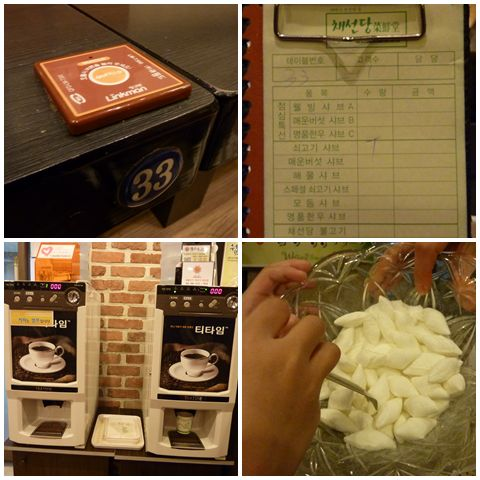 Most Korean restaurants offer free coffee and peppermint candies