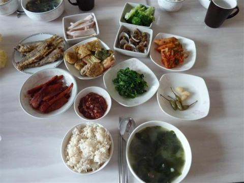 Seaweed soup - traditional Korean meal for birthdays