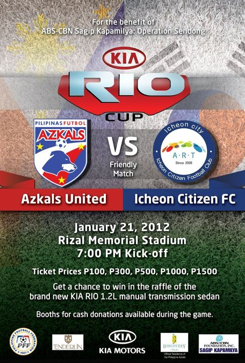 Azkals United vs Icheon Citizens FC