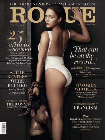 KC Concepcion on the cover of Rogue Magazine - February 2012 issue