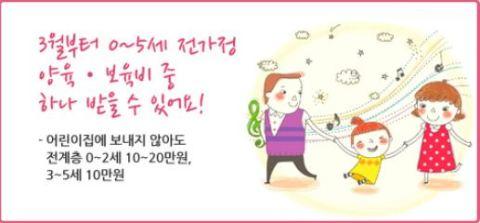 Subsidy for all Korean pre-school kids
