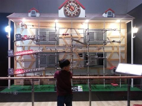 This huge mechanical clock teaches your kid the concept of time.