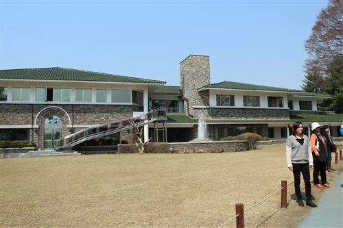 Rear view of the main residence building
