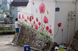 An artist-at-work