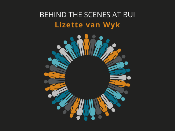 Circle of employees to represent BUI staff for feature on Lizette van Wyk
