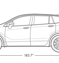 2018 buick envision small luxury suv vehicle dimensions diagram  [ 1613 x 753 Pixel ]