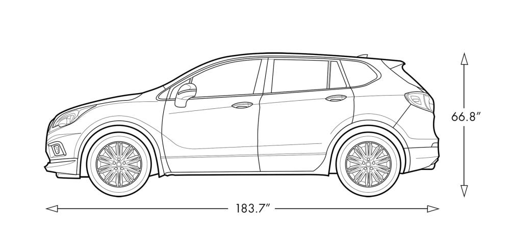medium resolution of 2018 buick envision small luxury suv vehicle dimensions diagram
