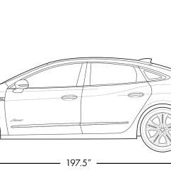 diagram image showing height and length of the 2019 buick lacrosse avenir full size luxury [ 1613 x 753 Pixel ]