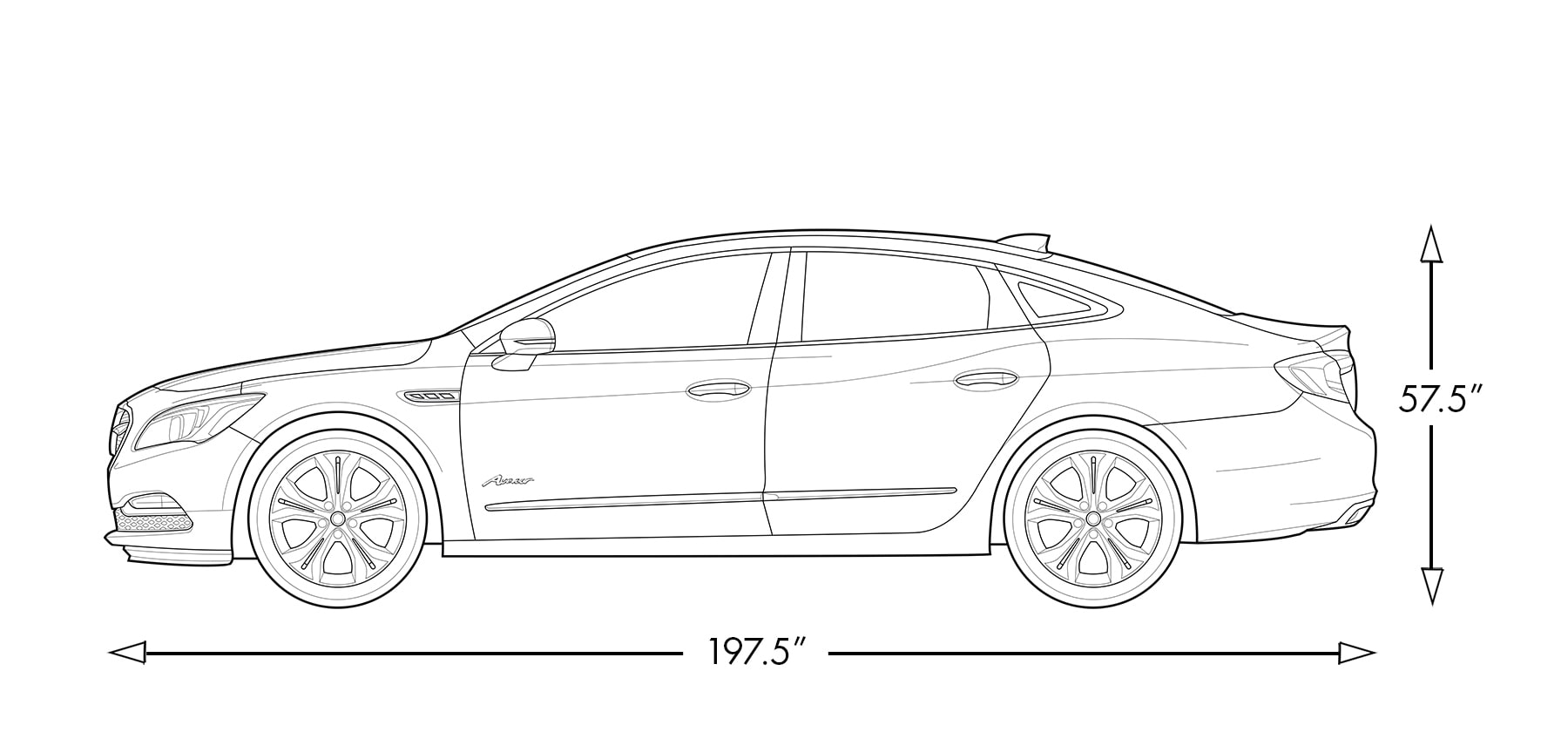 hight resolution of diagram image showing height and length of the 2019 buick lacrosse avenir full size luxury